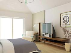 家居壁纸:简单而时尚的卧室