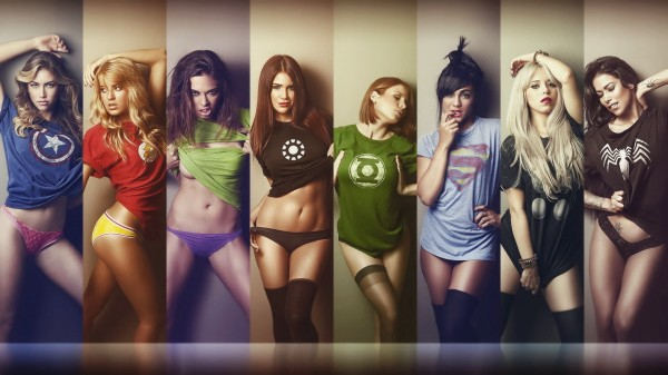 超级英雄美女们